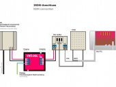 Schaltplan zum Anschluss VDU DSL an einem ISDN Anschluss