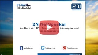 Webinar 2N NetSpeaker – Audio over IP System