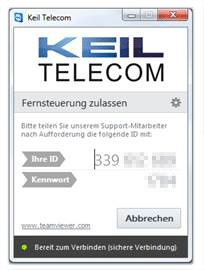 Keil Telecom Teamviewer Supportmodul