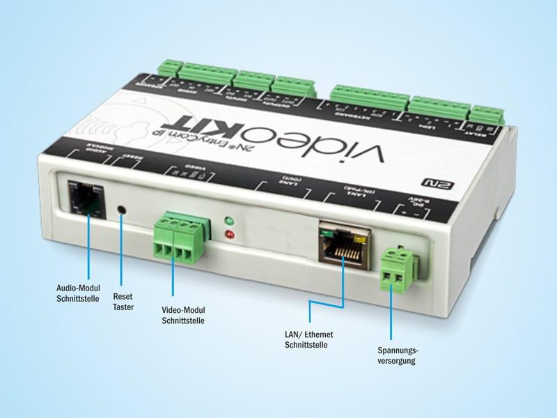 Anschlussbeschriftung 2N Entrycom IP Videokit