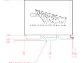 IP Webrelay - Maßzeichnung X-WR-1R12 (Seitenansicht)