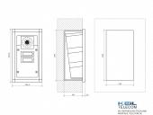 2N EntryCom a/b Safety - Unterputzmontage mit UP-Rahmen