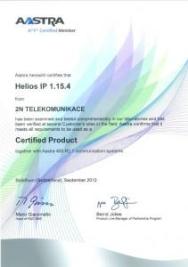 Aastra Certificate 2N EntryCom IP Vario