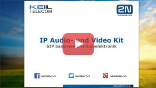 Webinar zum 2N Audio- und Video-Kit