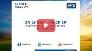 Webinar 2N Indoor Touch IP