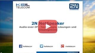 Webinar 2N NetSpeaker – Audio over IP System